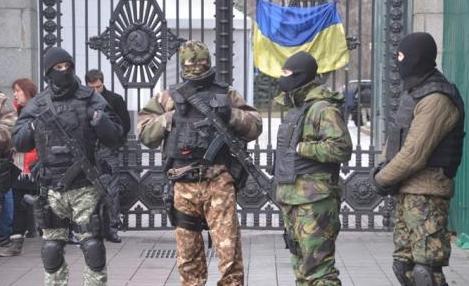 боевики в центре киева