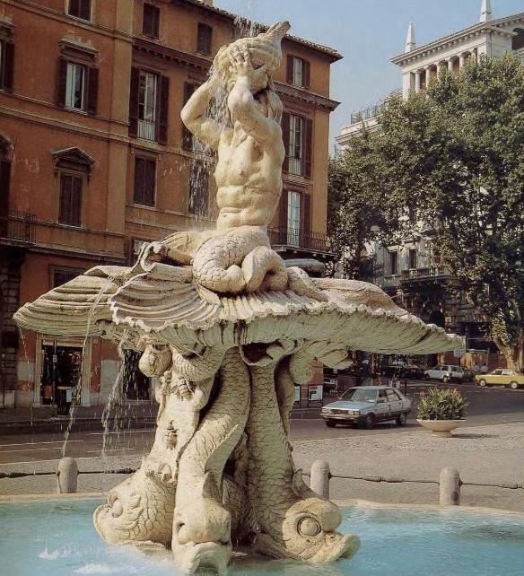 фонтан тритон