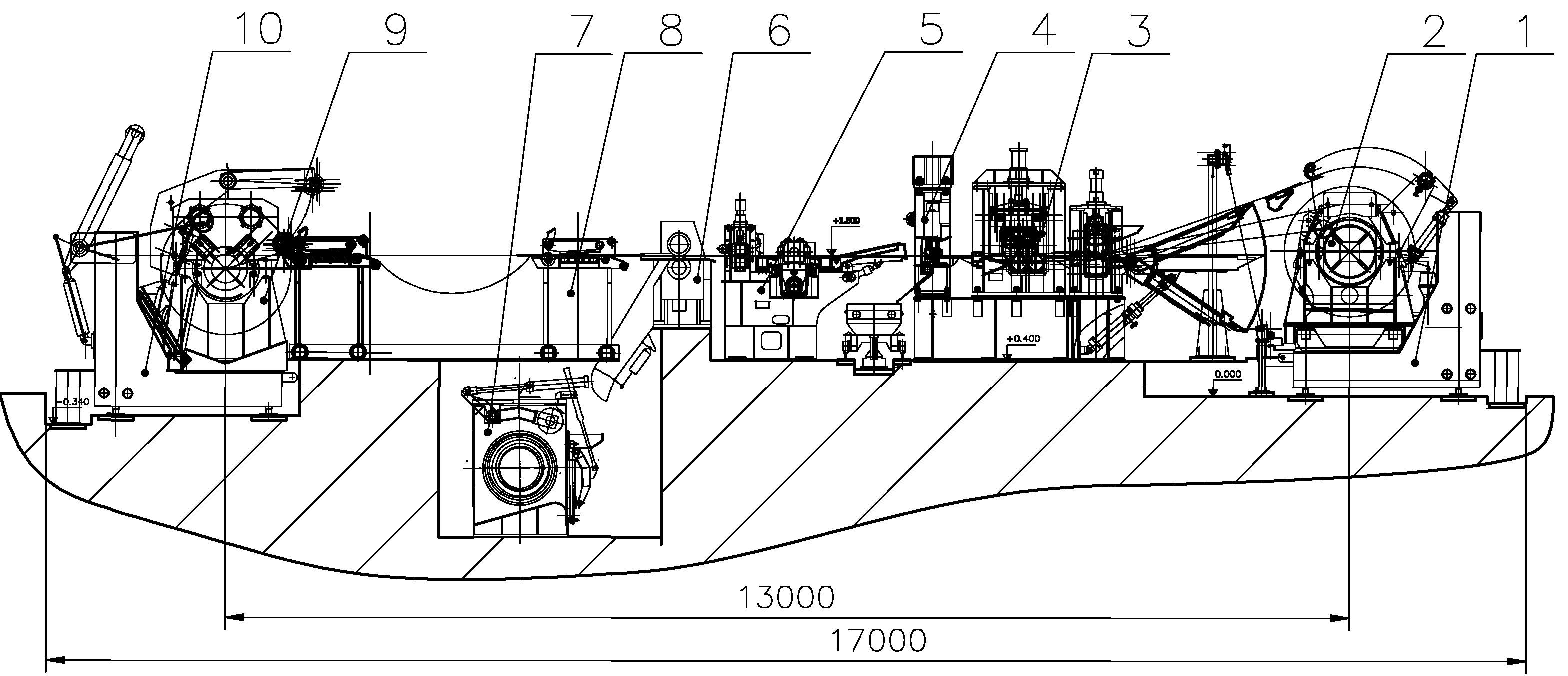 схема агрегата поперечной резки