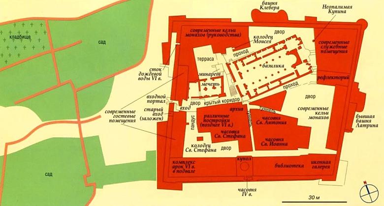 монастырь святой Екатерины схема
