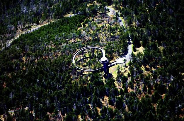 смотровая башня заповедника дымчатые горы